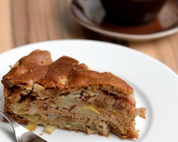 Veganer Apfel Birnen Kuchen Herbs Chocolate