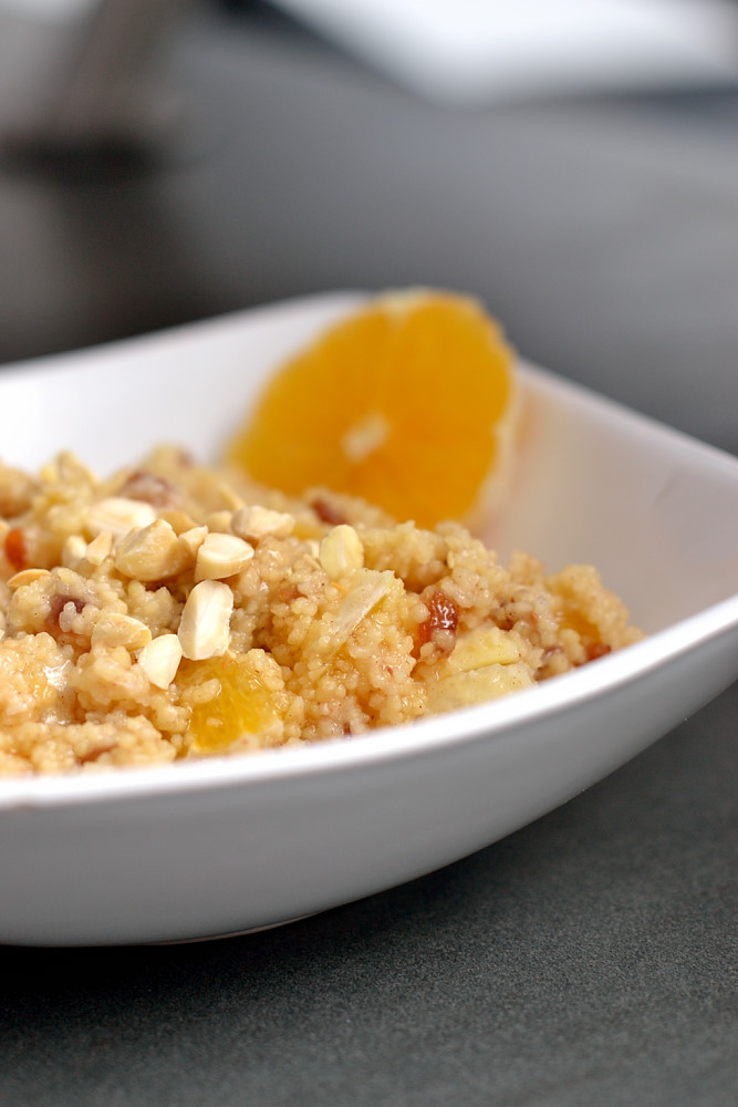 Kokos-Couscous mit Orange