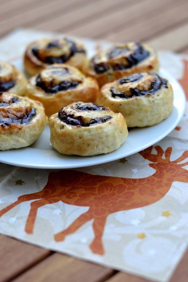 Schokoladen-Marzipan-Schnecken mit Orangennote