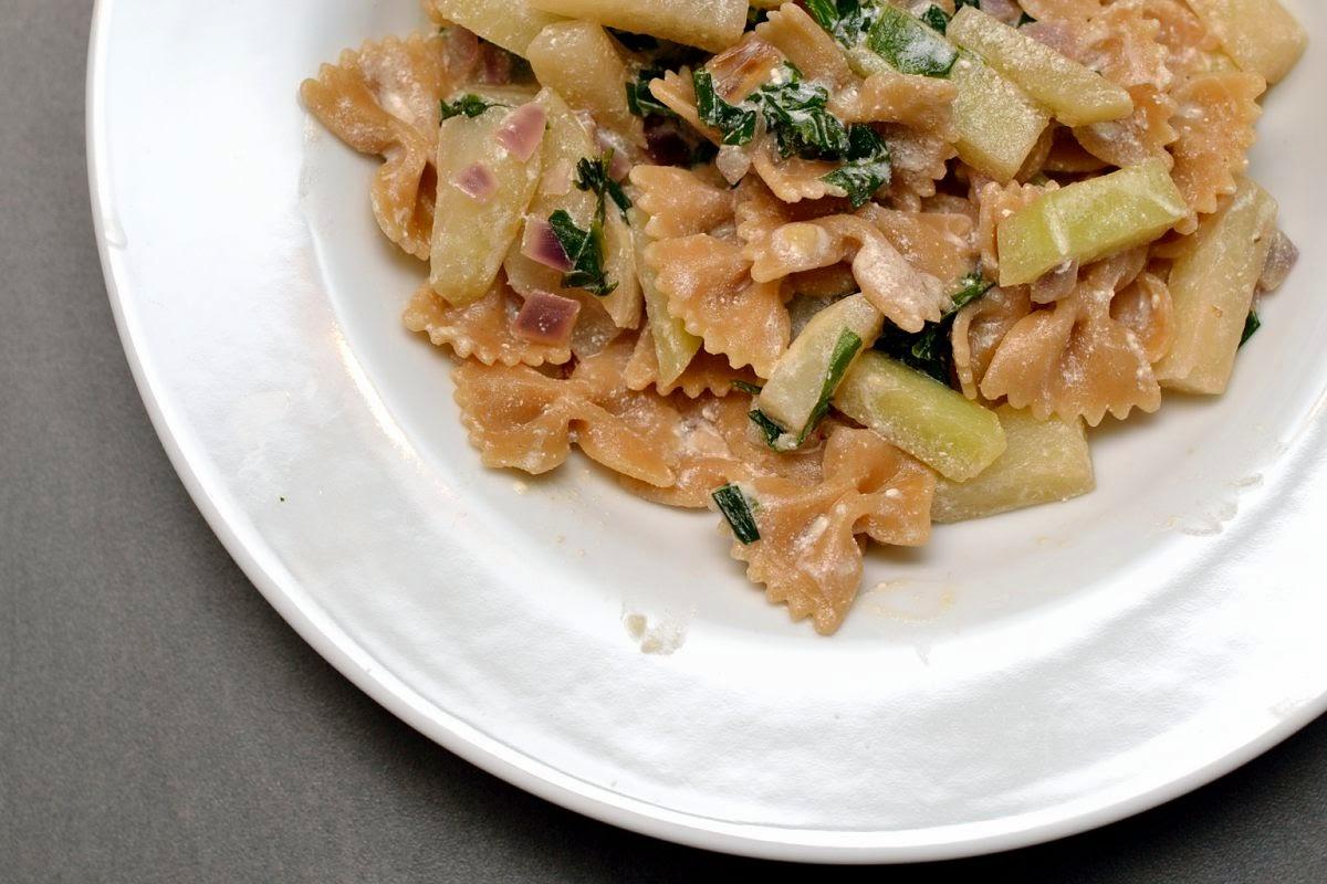 Pasta mit Bärlauch und Ricotta