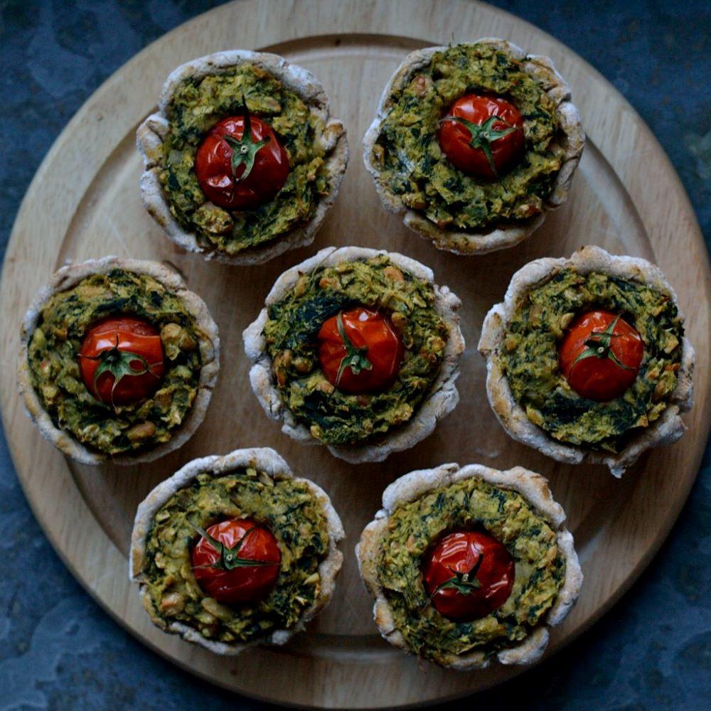 Mini-Spinat-Bohnen-Quiches