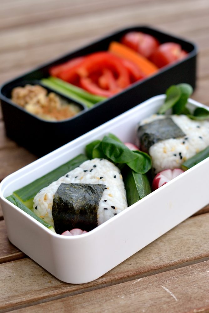 Onigiri mit veganer Rührtofu-Füllung