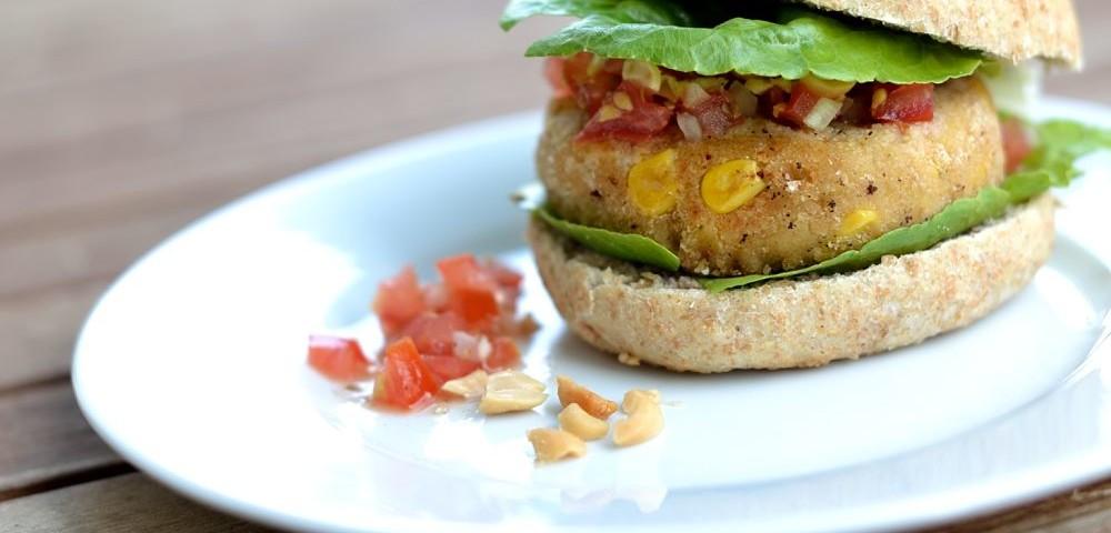 veganer Mais-Burger