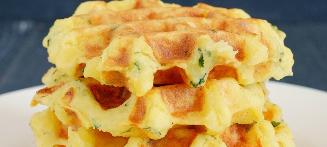 Herzhafte Kartoffelwaffeln
