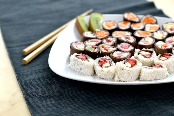 Süßes Sushi Fingerfood kreativ