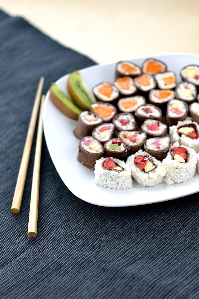 Süßes Frucht-Sushi