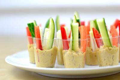 Vegetarisches Fingerfood herzhaft Schnittchen Humms Rohkost