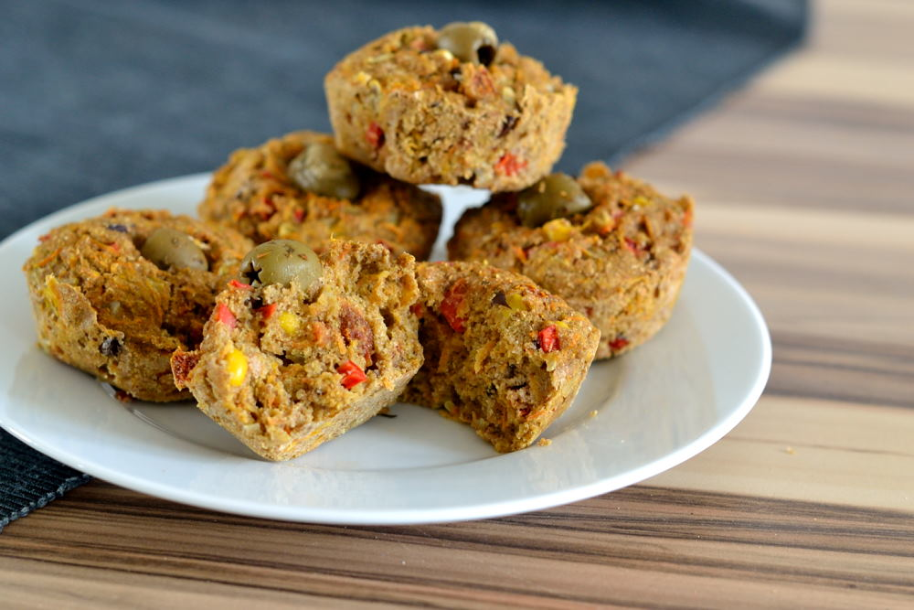 herzhafte gem se muffins mit getrockneten tomaten herbs chocolate. Black Bedroom Furniture Sets. Home Design Ideas