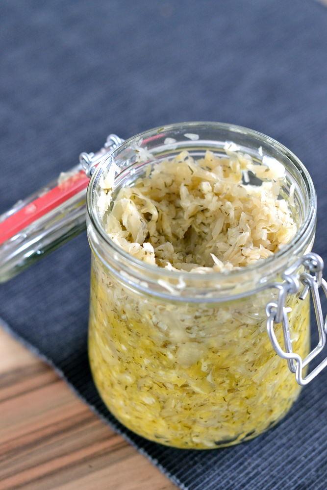 Dill-Zitronen-Sauerkraut