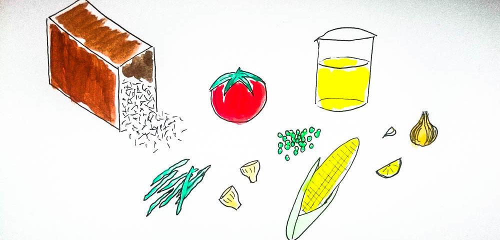 Gemüse-Paella vegan