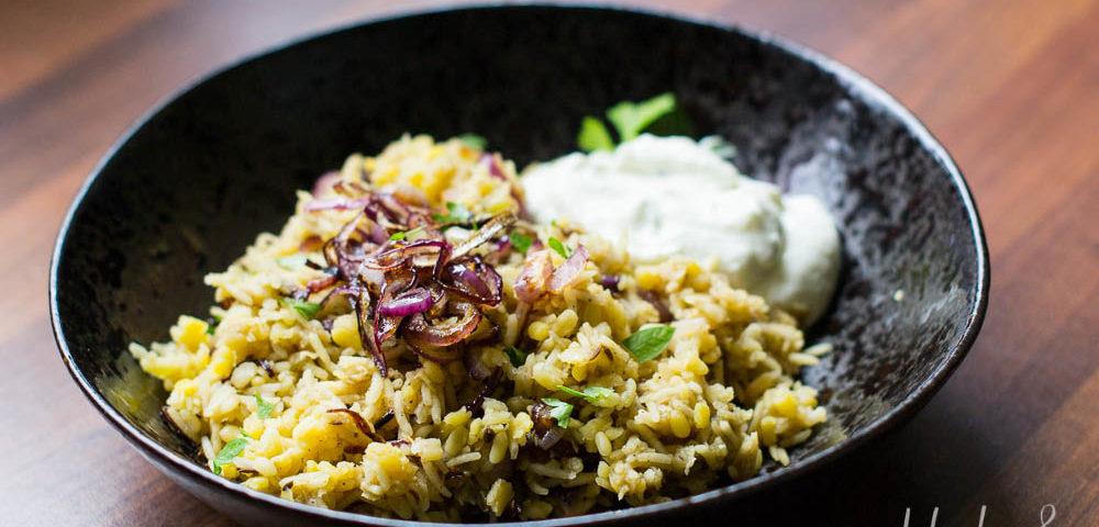 Mejadra Orientalisches Linsen-Reisgericht