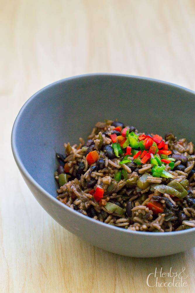 Arroz Congris – Kubanischer Reis mit schwarzen Bohnen