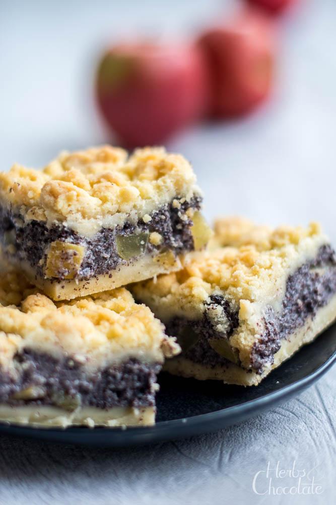 Veganer Apfel-Mohnkuchen