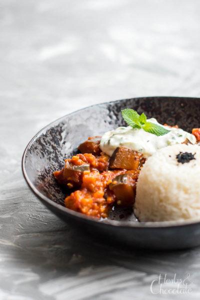 indisches Auberginen-Curry