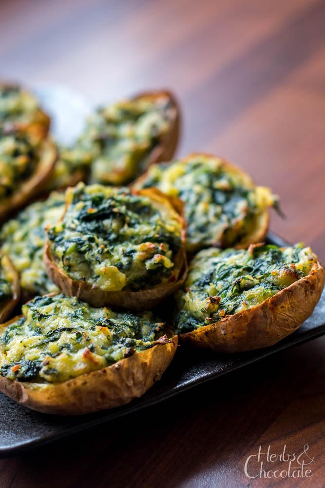 Kartoffeln mit Spinat und Gorgonzola