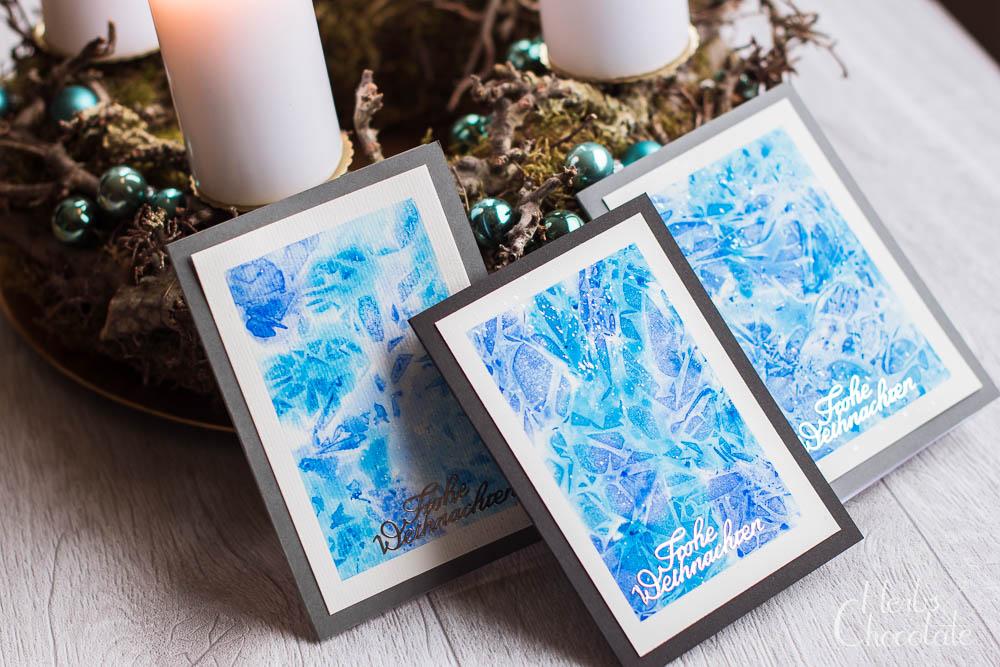 Aquarall-Weihnachtskarten für Anfänger